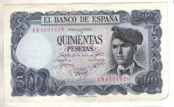 500 peseta 1971 Spanyolország Ritka