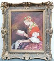 Bendéné Kovacsev Friderika (1891-1975) / Olvasó lány