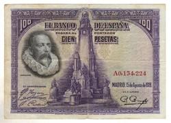 """100 peseta 1928 Spanyolország """"A"""" sorozat"""