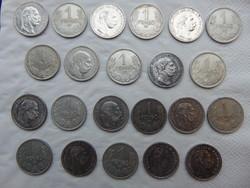 11 darab ezüst 1 korona - 11 darab ezüst 1 pengő LOT ! 03