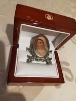 Eladó régi fém galamgos Mária medugorje/Mária üzenetei felirat/