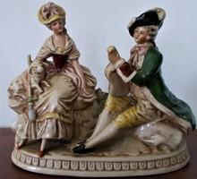 Antik, Grafenthal porcelán, rokokó életkép,pár