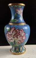 Kínai tűzzománc váza