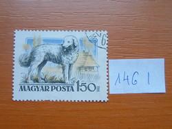 MAGYAR POSTA 1,50 FORINT 1956 magyar kutyák 146 I