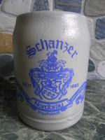 Korsó sörös kerámia német bajor 0,5 liter Schanzer Ingolstadt