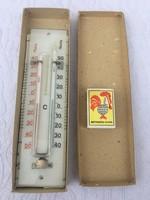 Nagyon Különleges Antik Régi - Six-rendszerű maximum-minimum hőmérő Üveg Dobozában