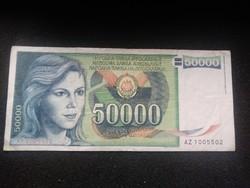 Ropogós 50000 Dínár Jugoszlávia 1988