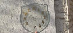 Antik szecessziós óra számlap csiszolt  üveg,akàr tükör mögé vàgni egy ekkora tükröt! Elemes órànak