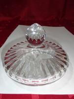 Üveg tető - bonbonier, vagy cukortartó -  átmérője 10,5 cm.