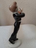 Hegedülő fiú Hollóházi porcelán figura