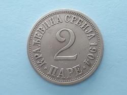 Szerbia I. Péter 2 para 1904 - Szerb 2 para külföldi pénz érme eladó