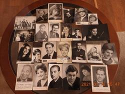 25 darab dedikált, aláírt fénykép-, fotógyűjtemény