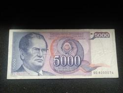 Jugoszlávia 50000 Dínár 1985