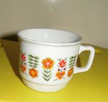 Zsolnay porcelán bögre virágos mintával