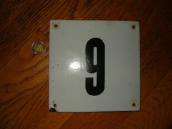 Zománctábla utca ház szám réginek látszik 6 os vagy 9 es KIÁRUSÍTÁS 1 forintról