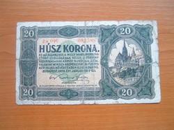 20 KORONA 1920 a 046 4 mm SORSZÁMBAN NINCS PONT