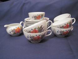 Antik Bavaria porcelán kávés teás csésze készlet
