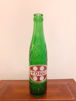 Retro Gyöngy üdítős üveg zöld palack