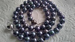 Tenyésztett édesvízi gyöngy nyaklánc 925 ezüst kapcsolóval