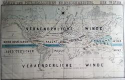 Térkép, Karte zur Physicalischen Erdbeschreibung. Die Winde, 19. második fele.