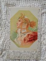 Antik/szecessziós litho/litográfiás, hosszúcímzéses művészlap/képeslap 1900-as évek eleje