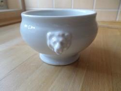 Régi Bauscher Bavaria oroszlánfejes fehér porcelán leveses tálka 7,5 dl