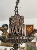 Art Deco bronz csillár