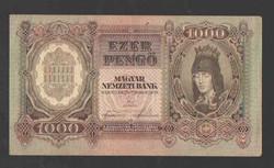 1000 pengő 1943. EF!!  GYÖNYÖRŰ!!  RITKA!!