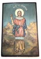 FILOFTEIA, a szent vértanú – Fára festett ikon – 17.