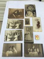 9 darabos Retro fekete - fehér keménylapos Kartonos fénykép - családi - Sepsiszentgyörgy műtermi