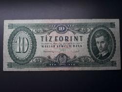 10 Forint 1949 - Zöld tízes, többször hajtott Ft bankjegy papírpénz eladó