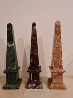 3 marble obelisks
