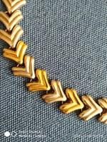 Impozáns Aranyozott ezüst karkötő