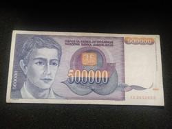 Nagyon szép Jugoszláv 500000 Dínár 1993