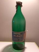 Retro Fonyódi ásványvíz csatos üveg régi címkés vizes palack