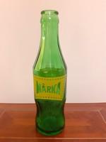 Retro Márka üdítős üveg zöld palack