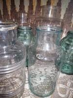 Régi befőttes üveg üvegek.