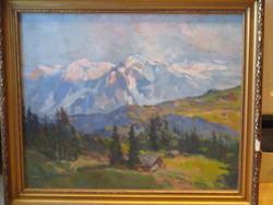 Zórád Géza festő  /1880-1960/ nagyon szép régi olajvászon festménye  60 x 70 cm