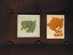 Iparművészeti kis kerámia faliképek