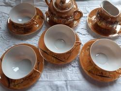 Japán tojáshéj porcelán kávés készlet darabok