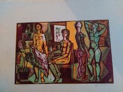 JÓZSA JÁNOS festő-és grafikusművész színes fametszet