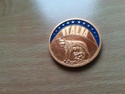 ECU sorozat - Italia 1993,   aranyozott CuNi érme  PP