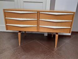 Extra mid century  6 fiókos komód, minimal design By Franz Erlich