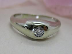 Gyönyörű antik art deco arany gyűrű gyémánttal az 1920-as évekből