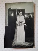 Régi esküvői fotó menyasszony fénykép
