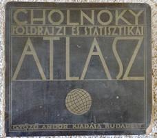 1929-es antik könyv, Cholnoky Jenő: Földrajzi és statisztikai atlasz