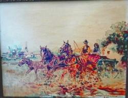 Eladó a képen látható Zórád Ernő festmény
