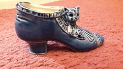 Kék porcelán cipő