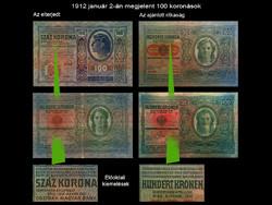 NAGYON RITKA 100 KORONÁS - WIEN 1912