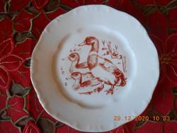 Zsolnay porcelán vadász jelenetes süteményes tányér